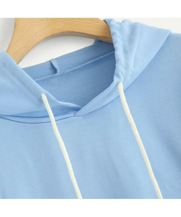 2020 Women Hoodies Hooded Long Sleeve Tops Casual Sport Pullover Jumper Sweatshirts
