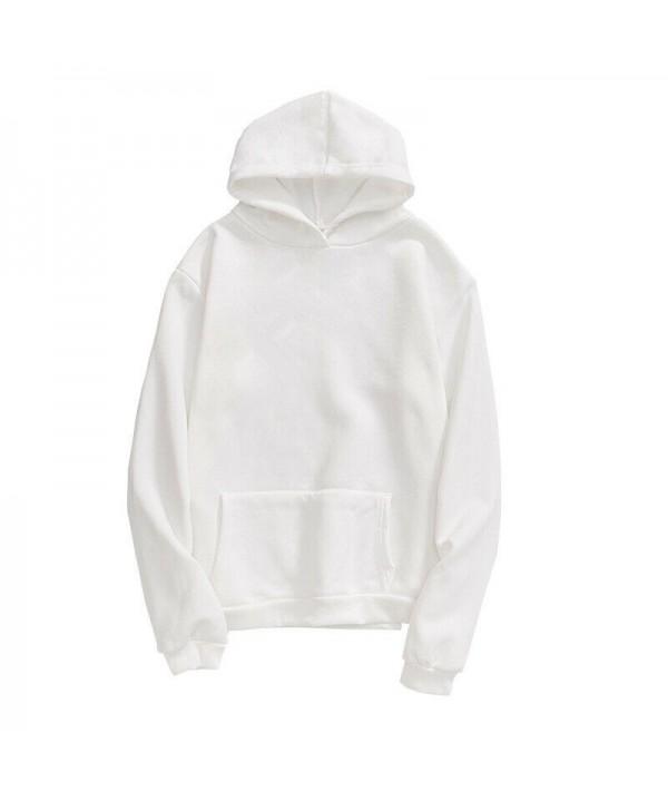 2020 Men Women Pullover Hoodie Unisex Hip-hop Solid Color Plain Sweatshirt Teenager