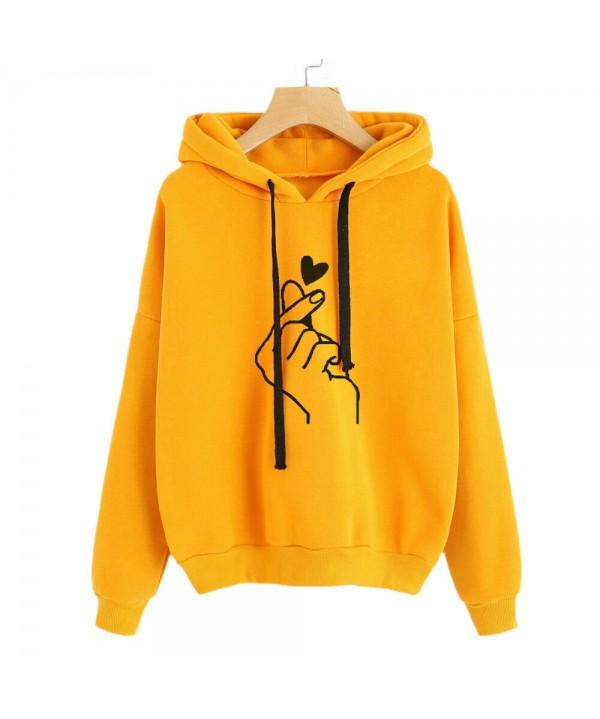 2020-2021 Women Long Sleeve Sweater Hoodies Sweatshirt Jumper Hooded Pullover Tops Outwear