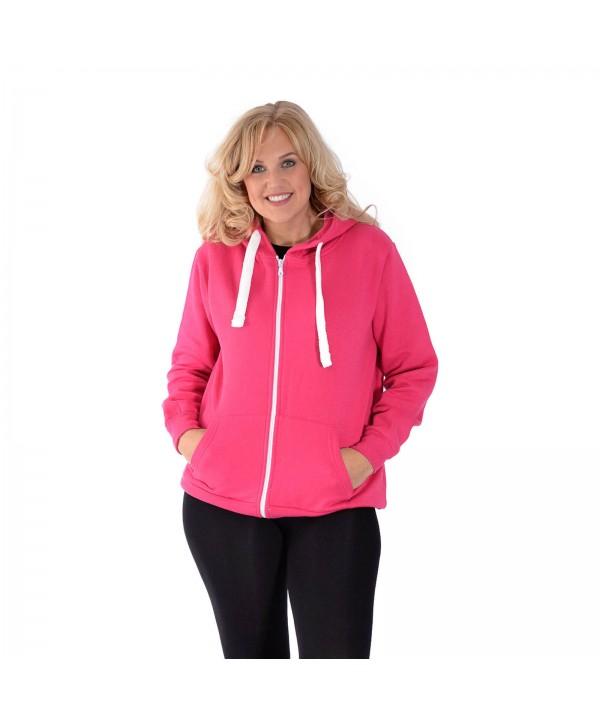 New Women Plus Size Pink Hoodies Ladies Plain Sweat Top Drawstrings Hooded Sale Soft