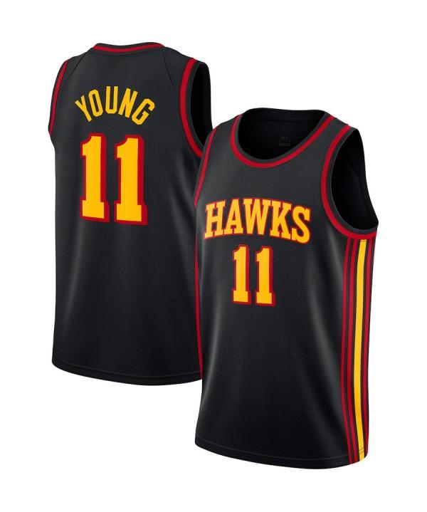 Men's Atlanta Hawks Black 202021 Swingman Jersey