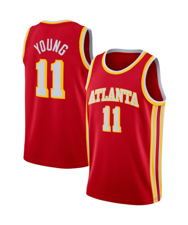 Men's Atlanta Hawks Trae Young Red 2020-21 Swingman Jersey