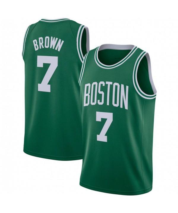 Men's Brown Kelly Green 2020-21 Swingman Jersey