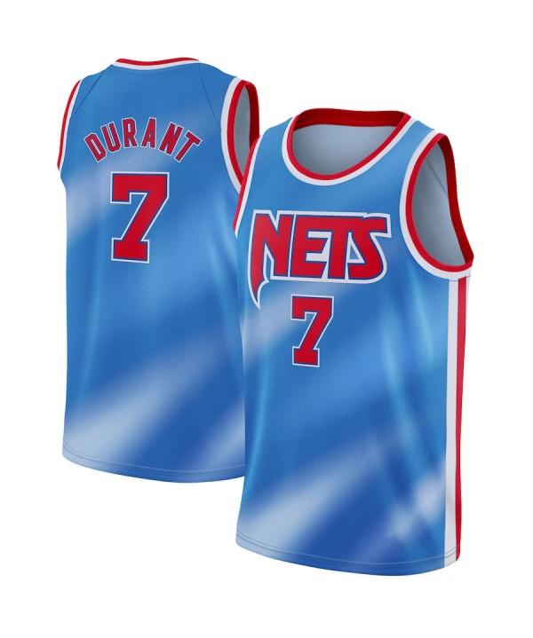 Men's Brooklyn Nets Kevin Durant Blue 2020-21 Swingman Jersey