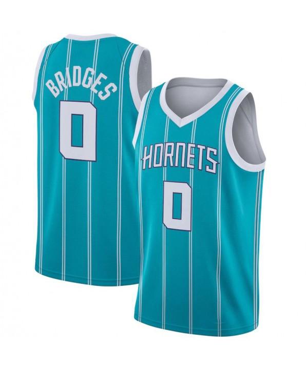 Men's Charlotte Hornets Miles Bridges ,Jordan Brand Teal 2020-21 Swingman Jersey